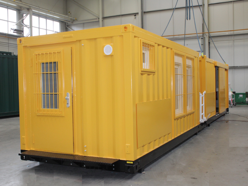 ABS intec - Technikcontainer bahn reperaturwagen1 - Planung & Engineering