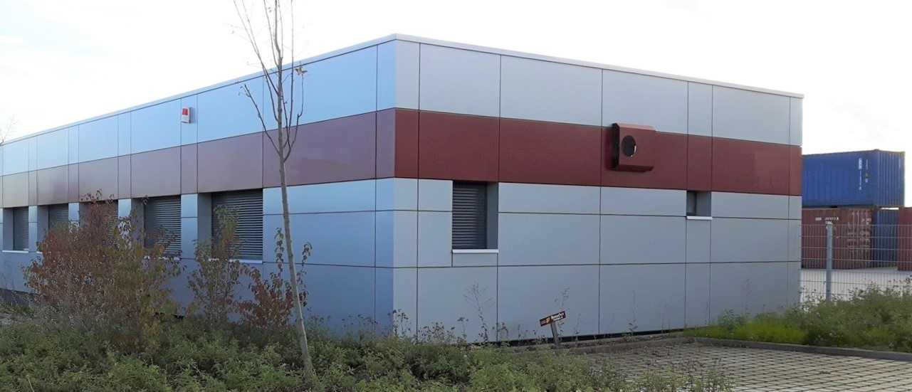 ABS intec - Technikcontainer Modulbau Alufassade Containerbauweise - Planung & Engineering