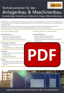 ABS intec - Technikcontainer Aggregatcontainer PDF Download 207x300 - Umweltcontainer