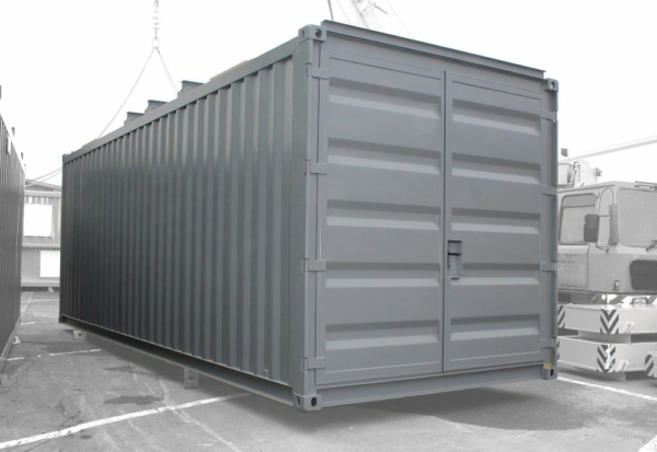ABS intec - Technikcontainer Batteriespeicher Container Dachquertraeger Doppeltuer 600x413 - Batteriecontainer