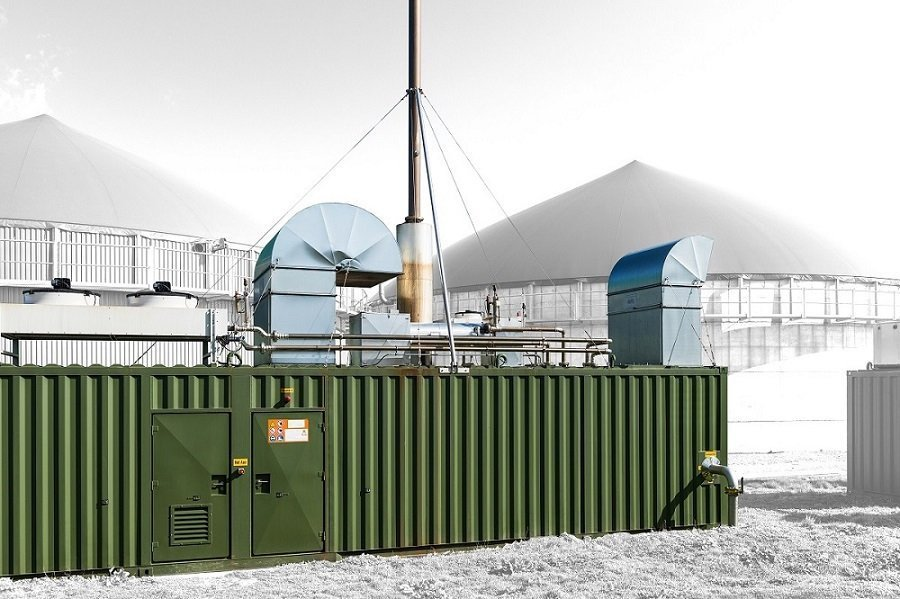 ABS intec - Technikcontainer Energiecontainer Biogas BHKW Container 40ft - Mobile Heizzentralen