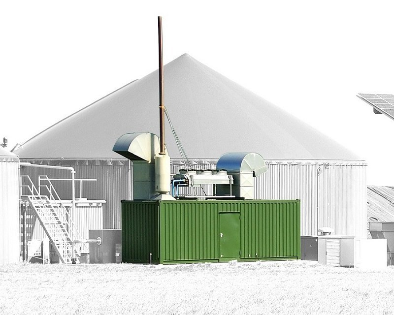 ABS intec - Technikcontainer Technikcontainer Biogas BHKW Ablufthaube - Mobile Heizzentralen