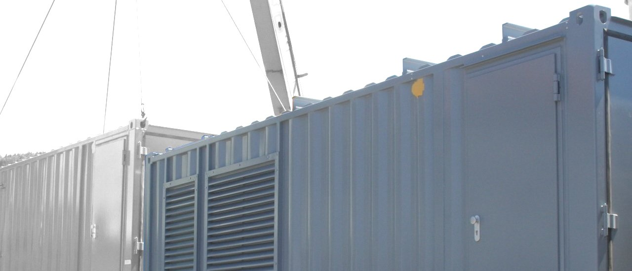 ABS intec - Technikcontainer Trafocontainer Verladung Wettergitter - Trafo-Container